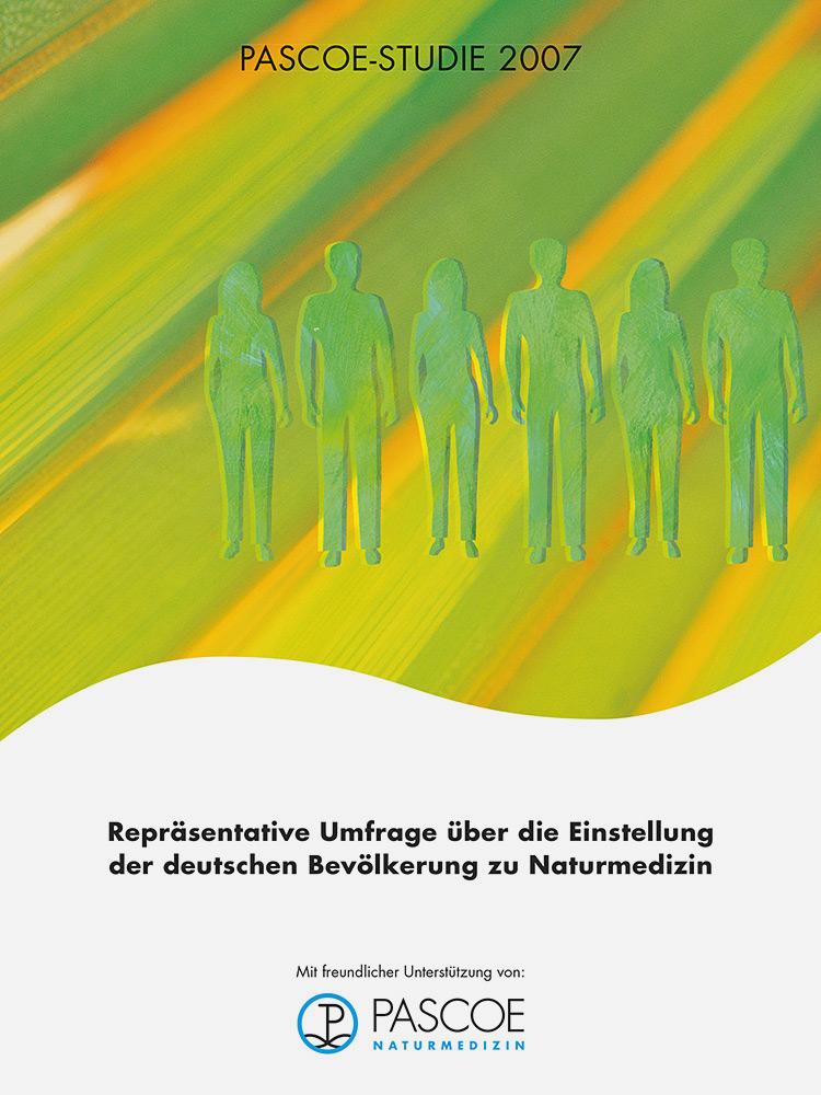 Pascoe研究2007,德国对天然药物态度的代表性调查显示:80.9%的居民更愿意将天然药物作为他们的一线疗法。